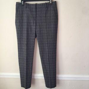 Theory Wool/Cashmere Blend Plaid Pants
